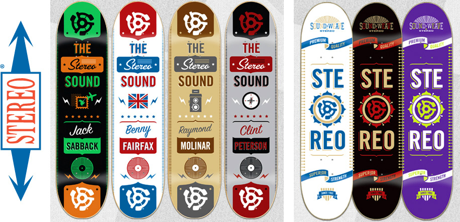 Danger Brain skateboard decks for Stereo Sound Agency