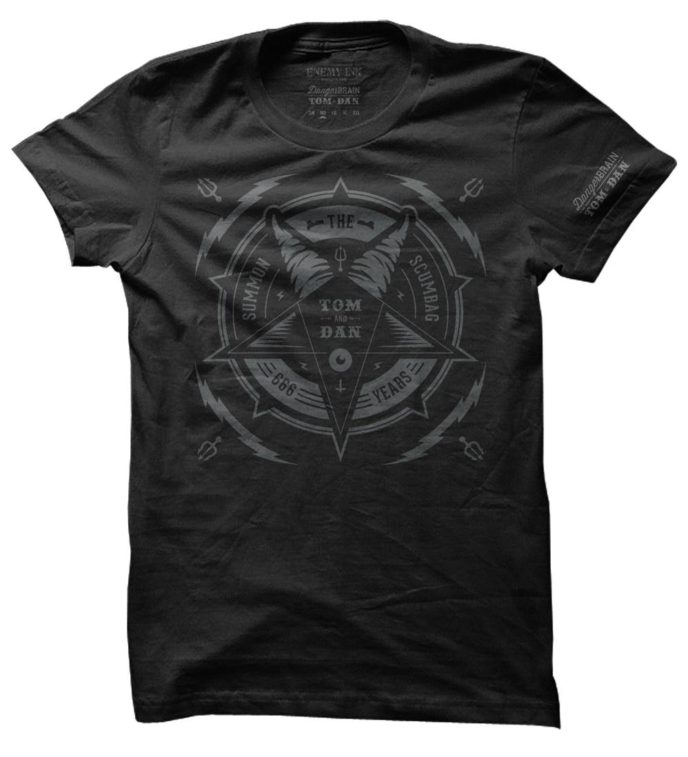 Black Summon the Scumbag event shirt