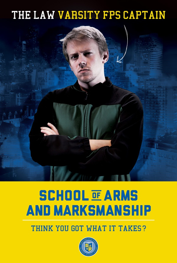 image of VGHS recruitment poster used on set
