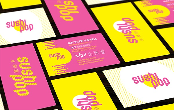 Restaurant branding project for Sushi Pop