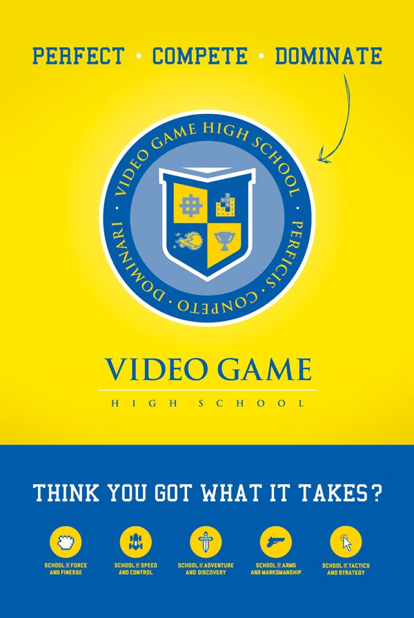 image of VGHS recruitment poster used on set of show