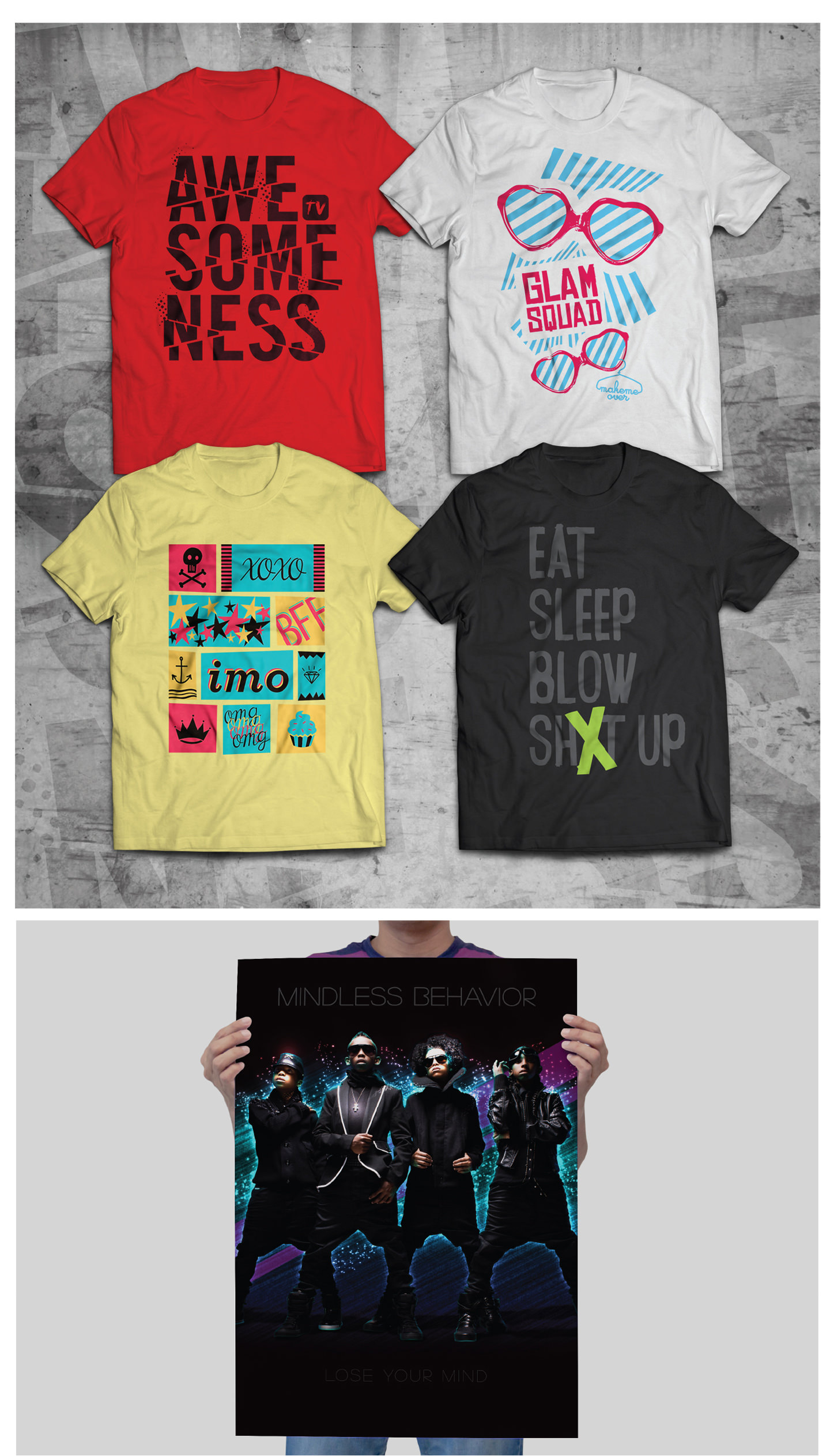 Merchandise for AwesomenessTV Shows
