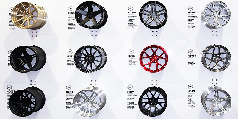 BC Forged wheels at BC Racing booth at SEMA
