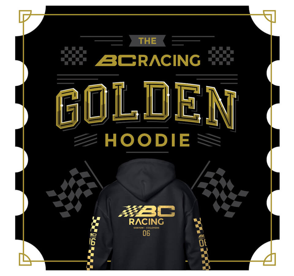 BC Racing Golden Hoodie, back