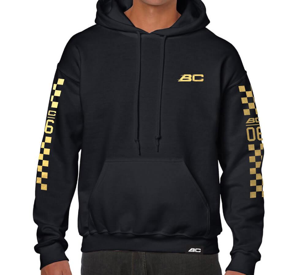 BC Racing Golden Hoodie, front