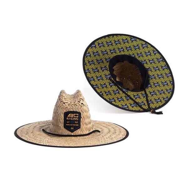 BC Racing custom straw hat