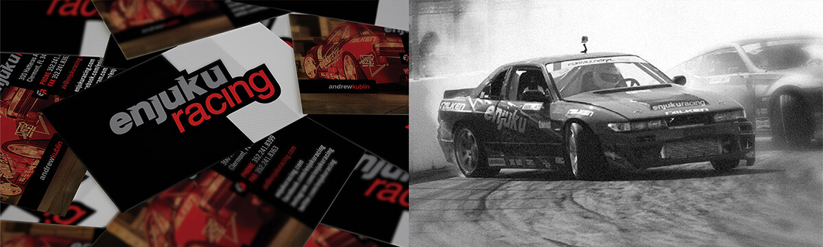 Business cards for Enjuku Racing