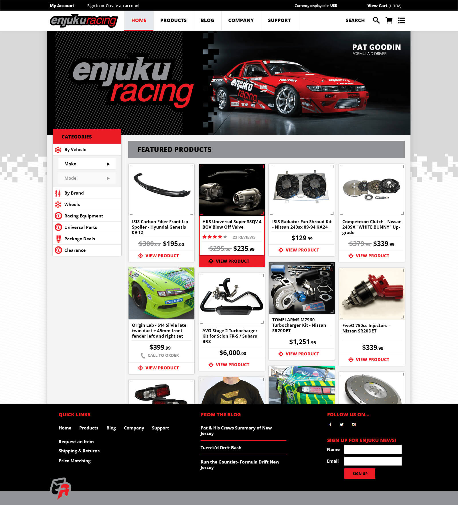 Screenshot of Enjuku website