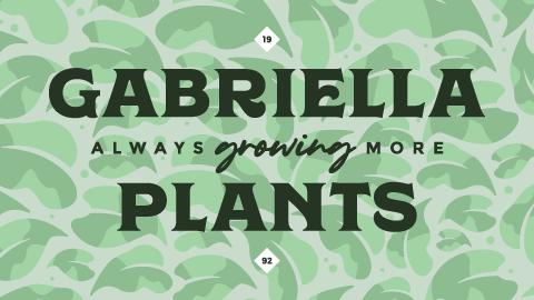 Gabriella Plants secondary logo, reversed