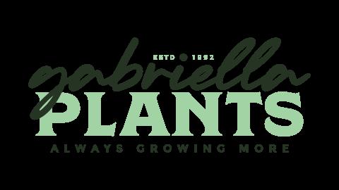 Reversed alternate Gabriella Plants logo