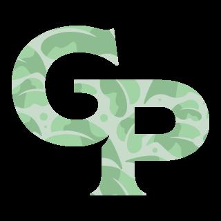 Patterned Gabriella Plants monogram