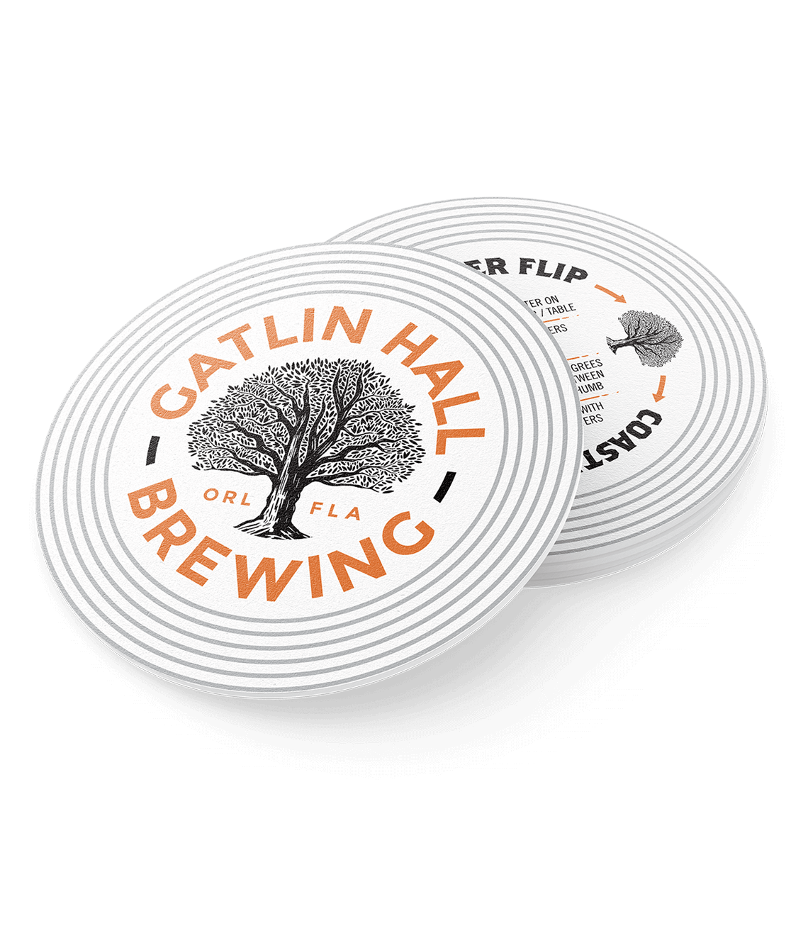 Round coaster for Gatlin Hall
