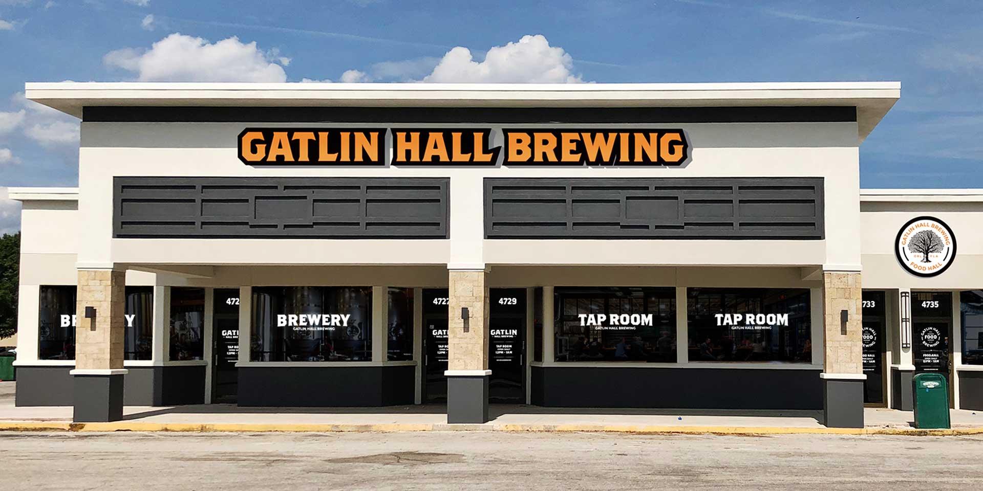 Exterior of Gatlin Hall Brewery location