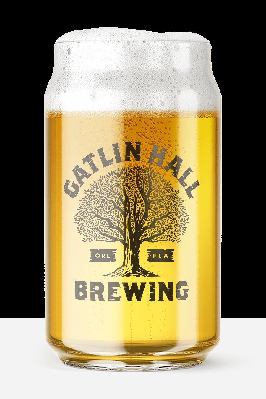 Gatlin Hall beer glass
