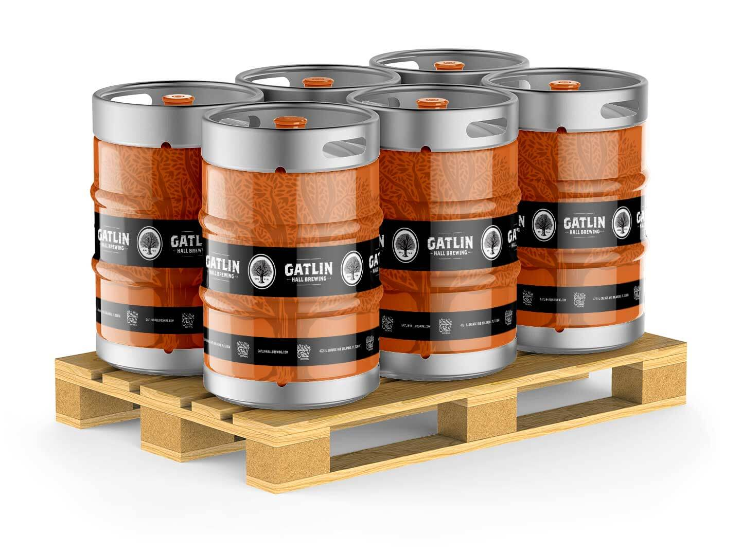 Kegs for Gatlin Hall Brewery