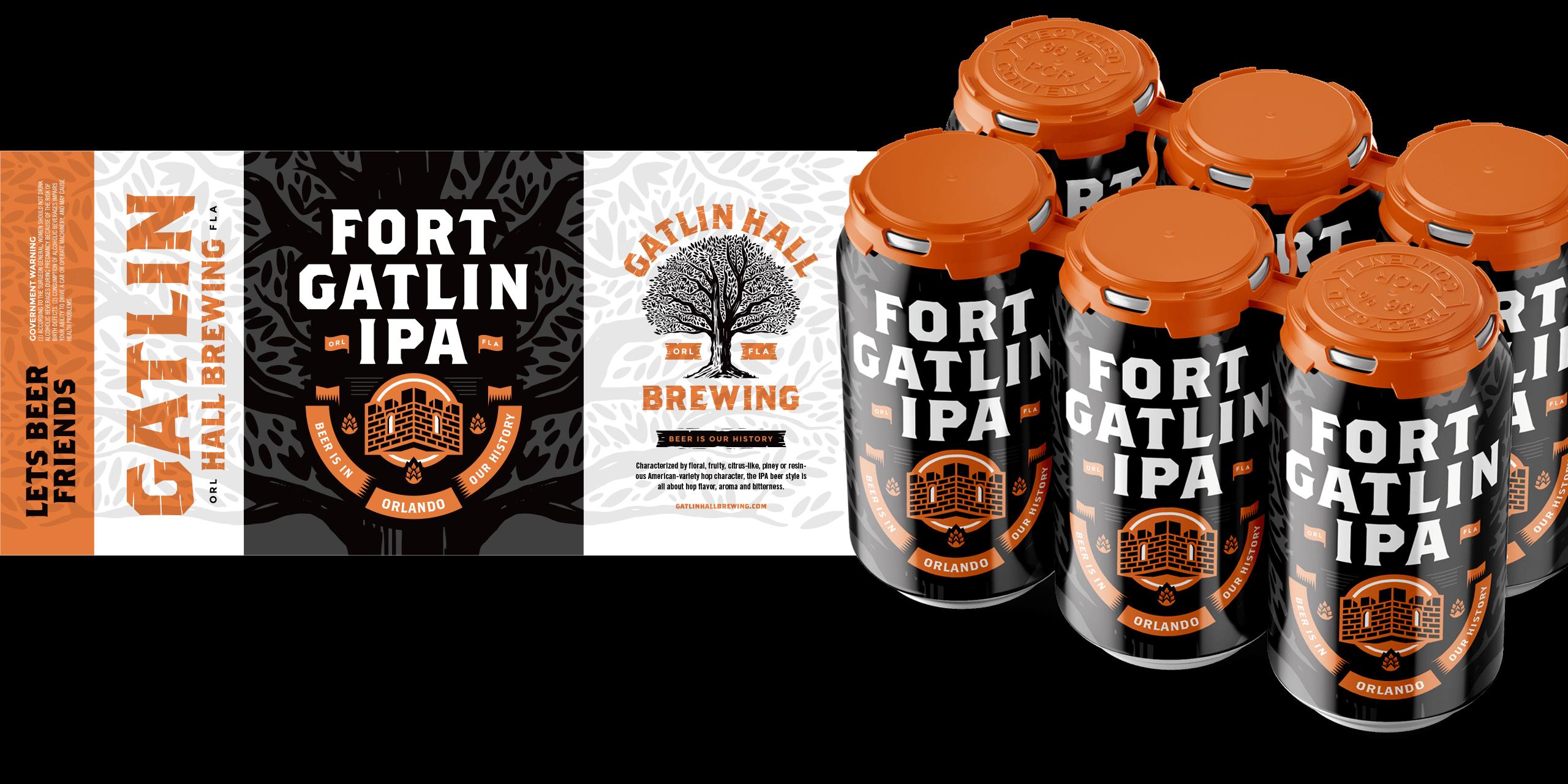 Gatlin Hall beer label