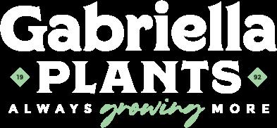 Gabriella Plants logo reversed