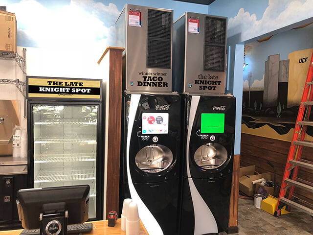 Gringos Locos beer cooler and soda machines