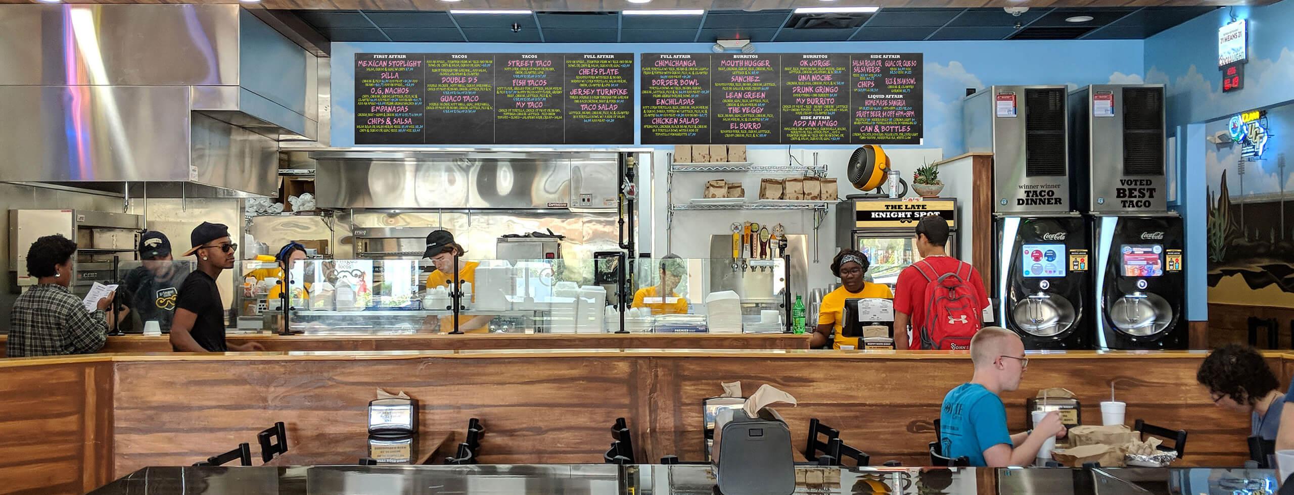 Gringos Locos store interior (UCF)