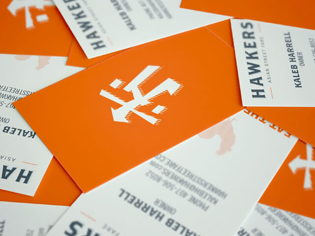 Hawkers business cards