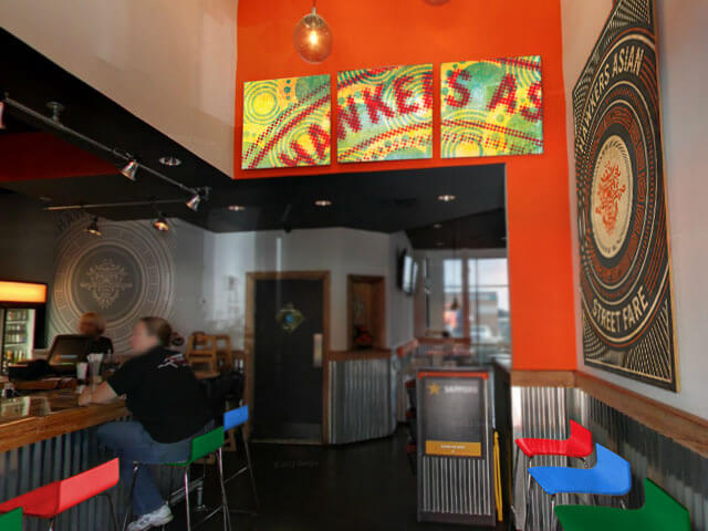 Hawkers interior signage