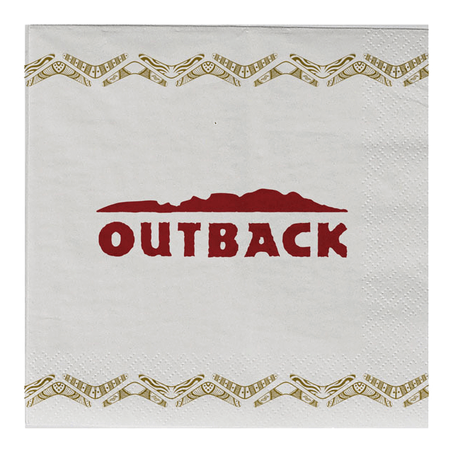 Outback napkin design