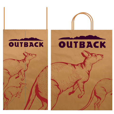 Takeaway bag for Outback Steakhouse