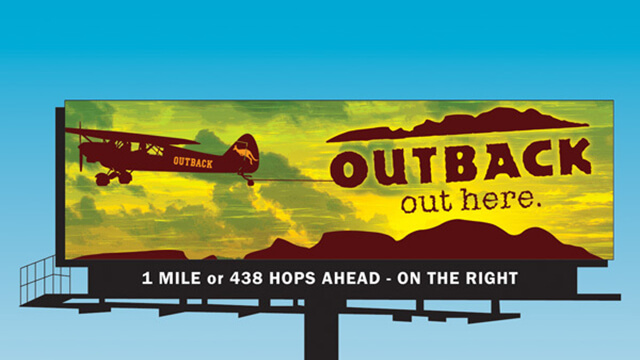 Outback Steakhouse billboard