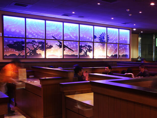 Outback Steakhouse interior shot