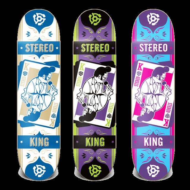 Stereo skate deck